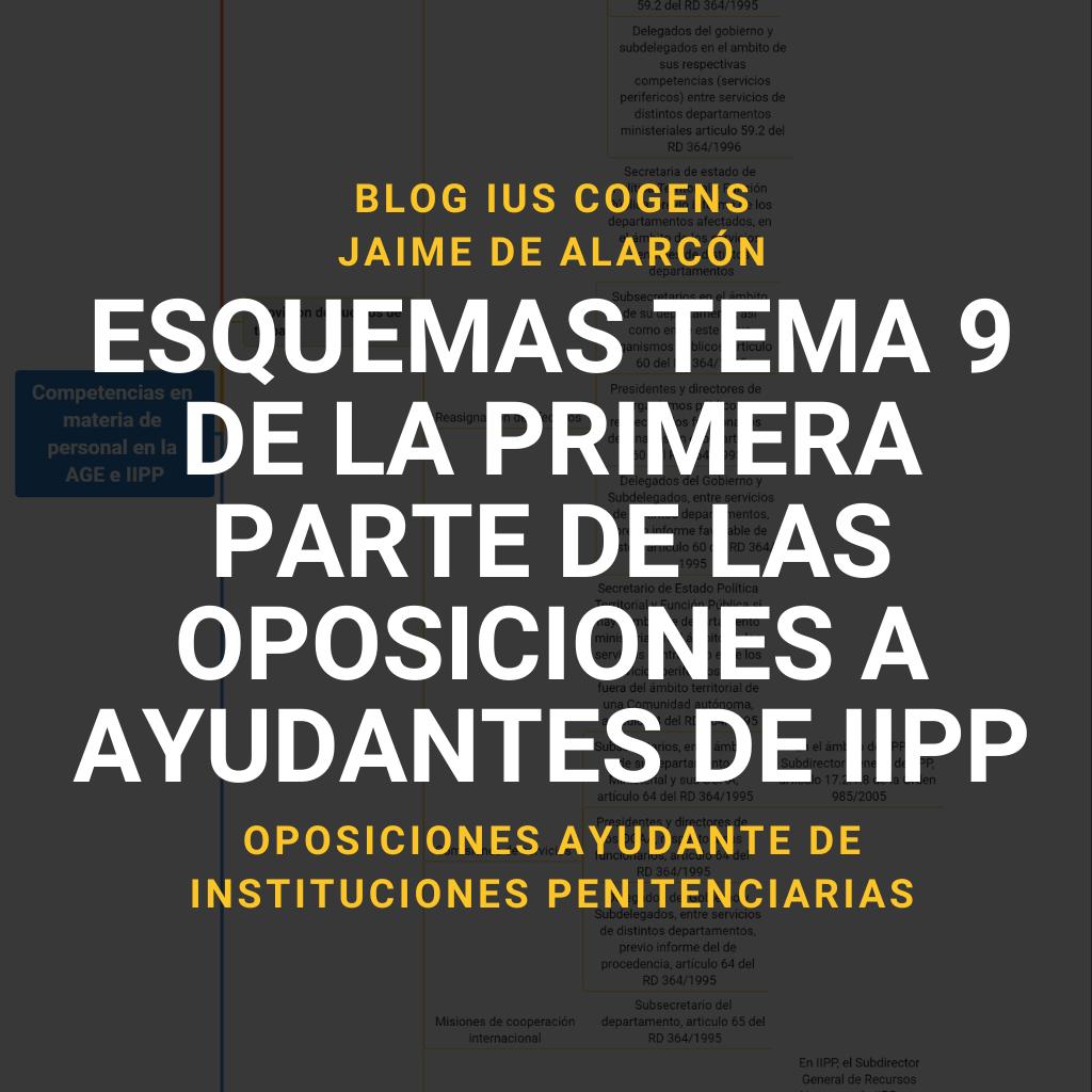 esquemas tema 9 de la primera parte de las oposiciones a ayudantes de instituciones penitenciarias