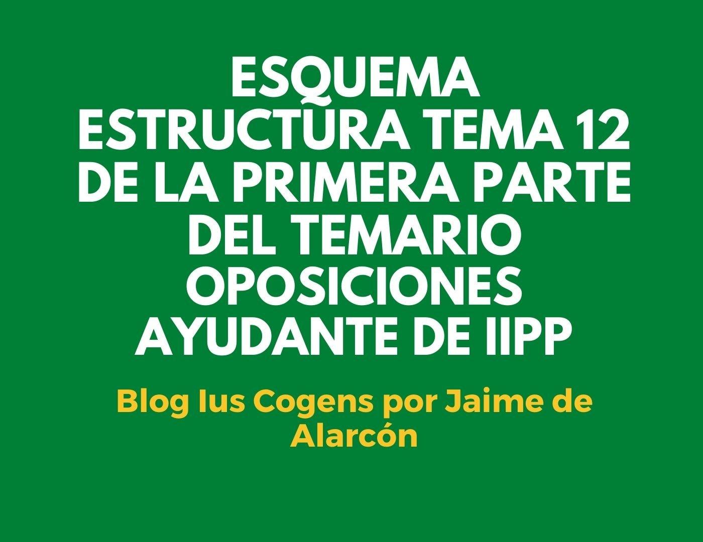 esquemas tema 12 de la primera parte del temario de las oposiciones a ayudante de instituciones penitenciarias