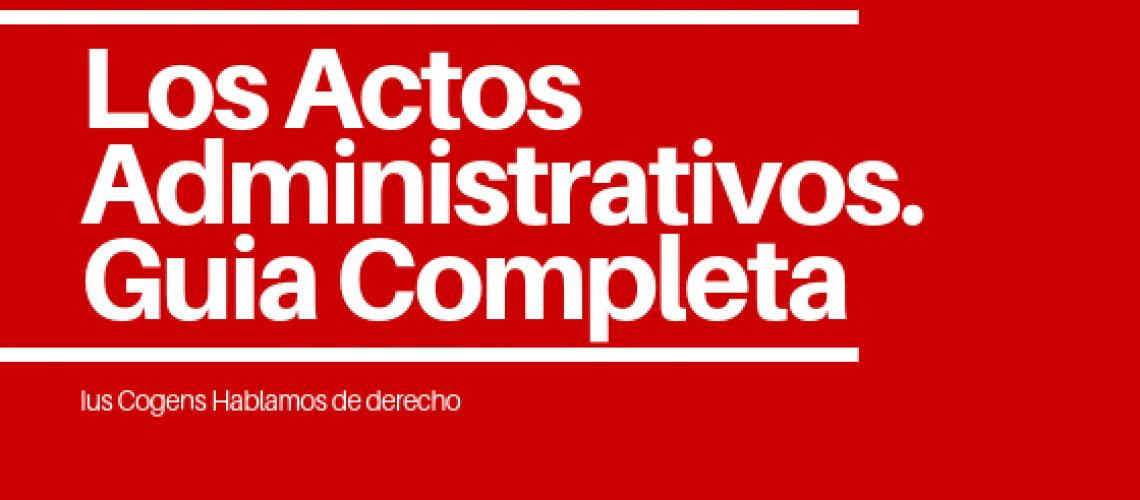 Ejemplos de actos administrativos