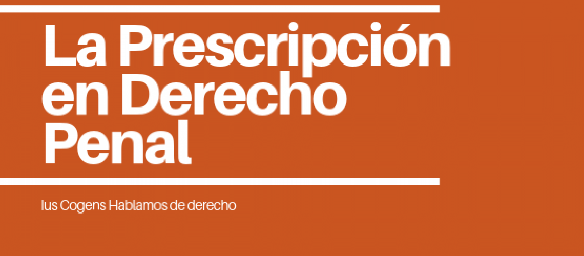 prescripción de delitos y las penas